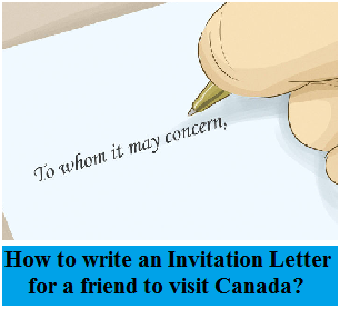 How to Write an Invitation Letter for a friend to Visit Canada
